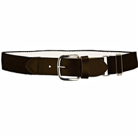 Heavy Duty Adult Stretch Baseball-Softball Belts Brown U.S. A. Made