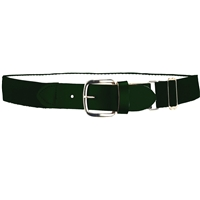 Heavy Duty Adult Stretch Baseball-Softball Belts Dark GreenU.S. A. Made