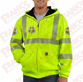DSNY high-visibility zip-front class 3 thermal-lined sweatshirt