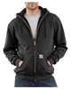 Thermal-Lined Hooded Zip-Front Sweatshirt