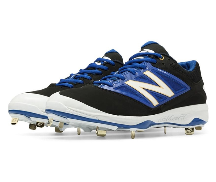 Black with Blue L4040BB3 Low-Cut Metal Cleat