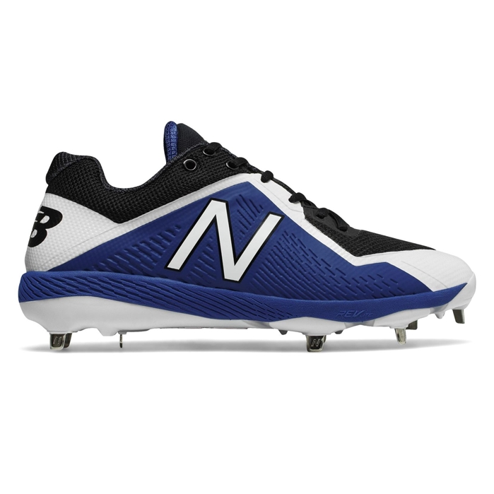Black with Royal Blue L4040BB4 Low-Cut Metal Cleat