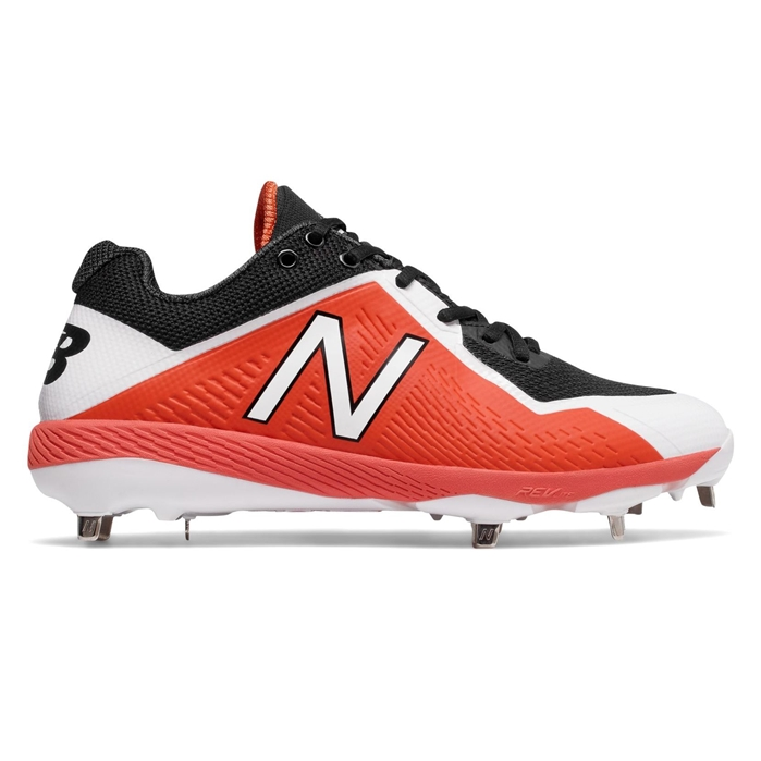 Black with Orange L4040BO4 Low-Cut Metal Cleat