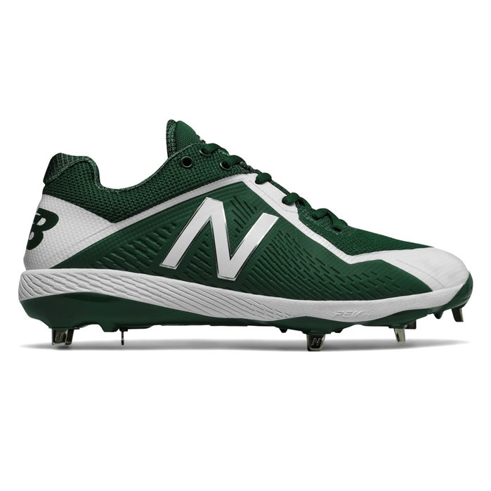 White with Green L4040TG4 Low-Cut Metal Cleat