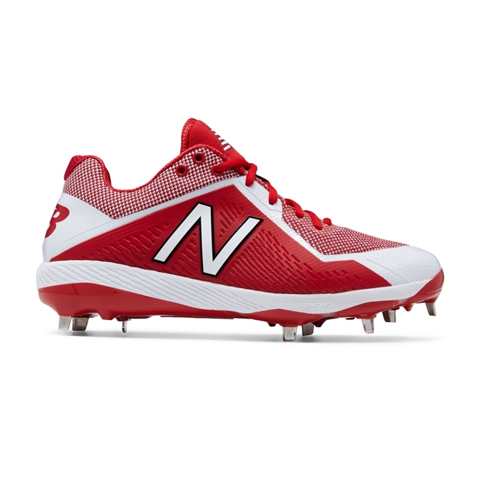 Red with White L4040TR4 Low-Cut Metal Cleat