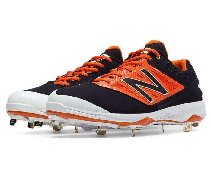 Black with Orange L4040BO3 Low-Cut Metal Cleat