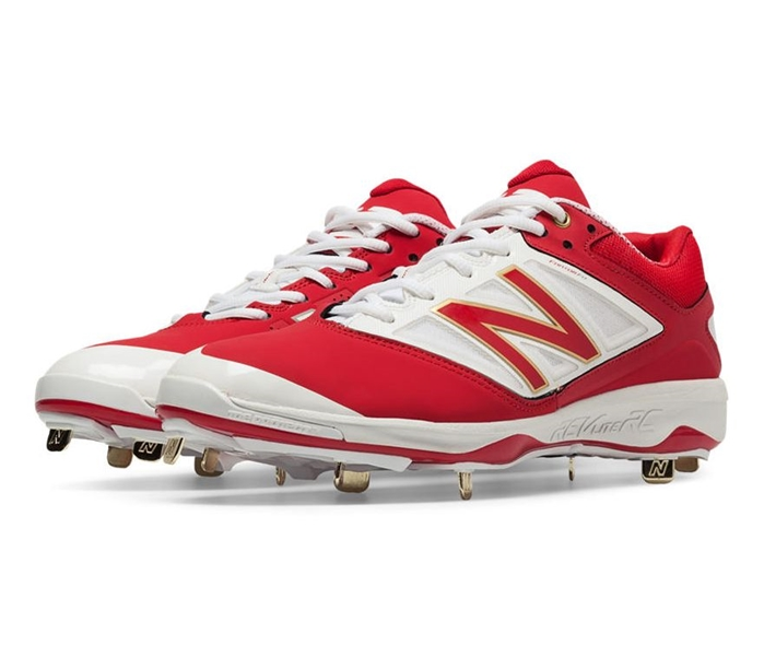 Red with White L4040AR3 Low-Cut Metal Cleat