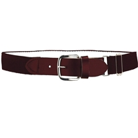 Heavy Duty Adult Stretch Baseball-Softball Belts Maroon U.S. A. Made