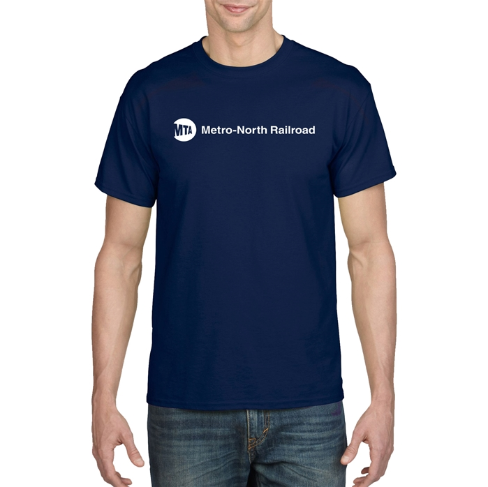 DryBlend MTA Metro-North Railroad Short Sleeve T-Shirt