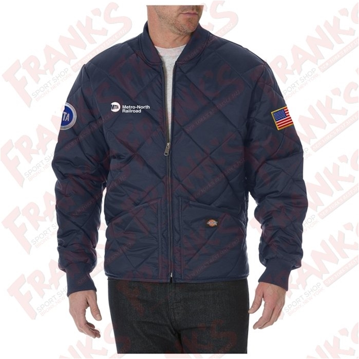 Custom Dickies Metro-North Railroad Quilted Nylon Jacket