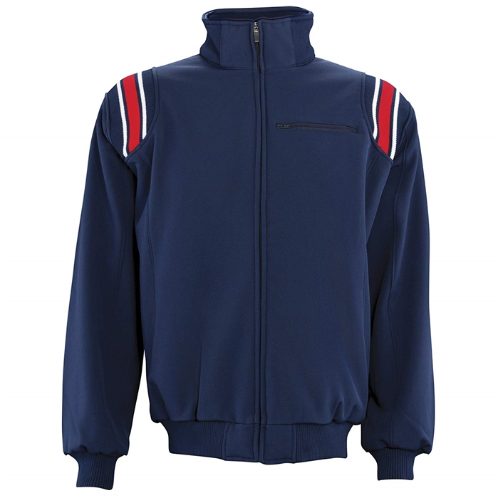 Adams USA Cold Weather Navy & Scarlet Umpire Jacket