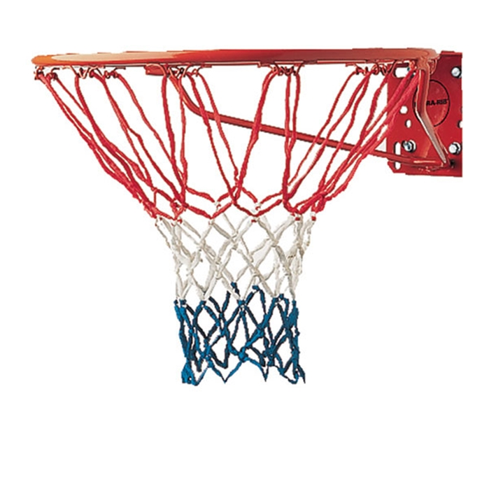 Champion Sports 4mm economy basketball net red/white/blue