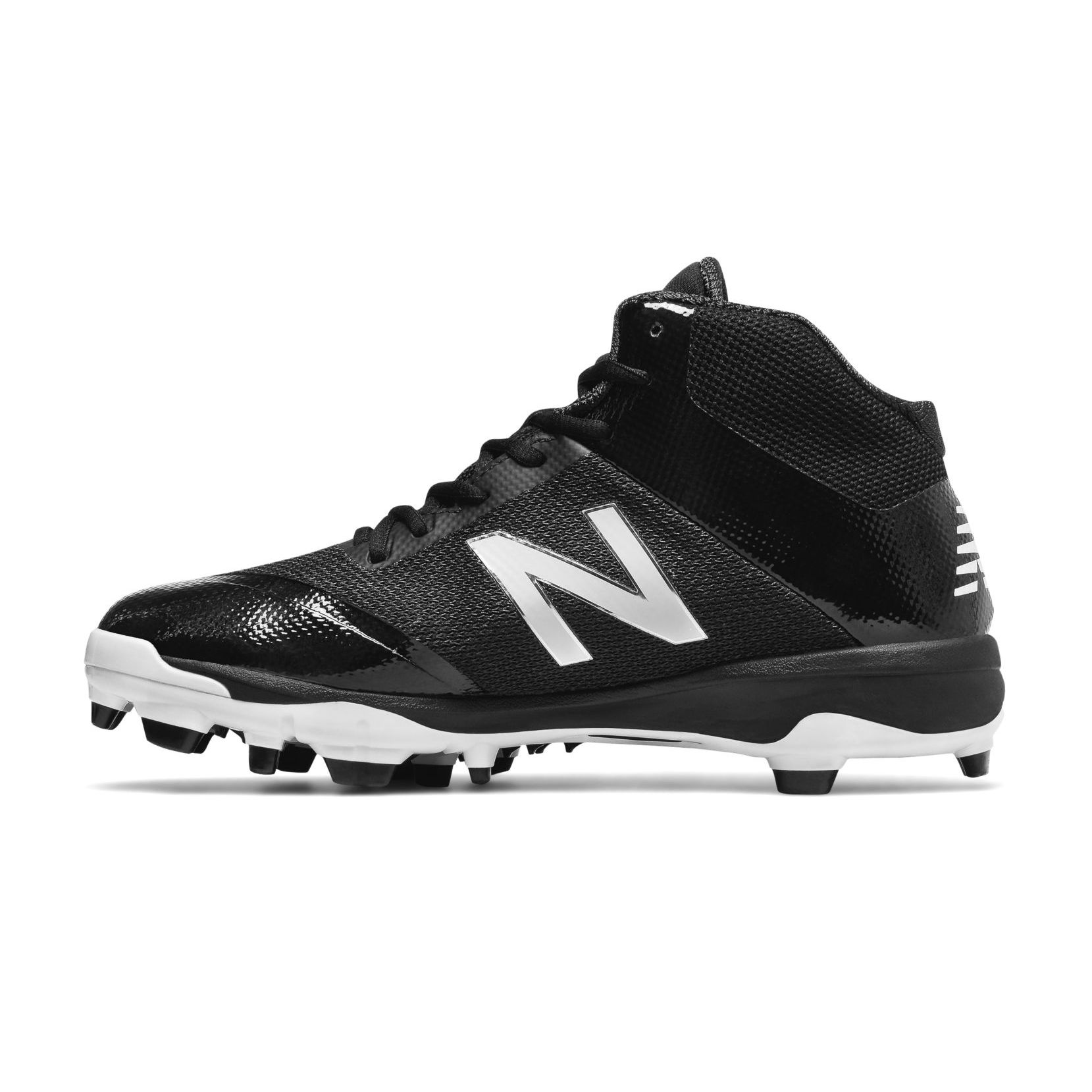 New Balance Mid Cut 4040v4 Tpu Black With White Molded Cleat