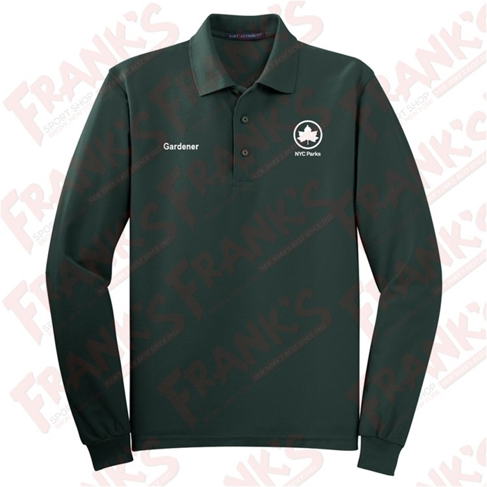 NYC Parks and Recreation Gardener Long Sleeve Polo
