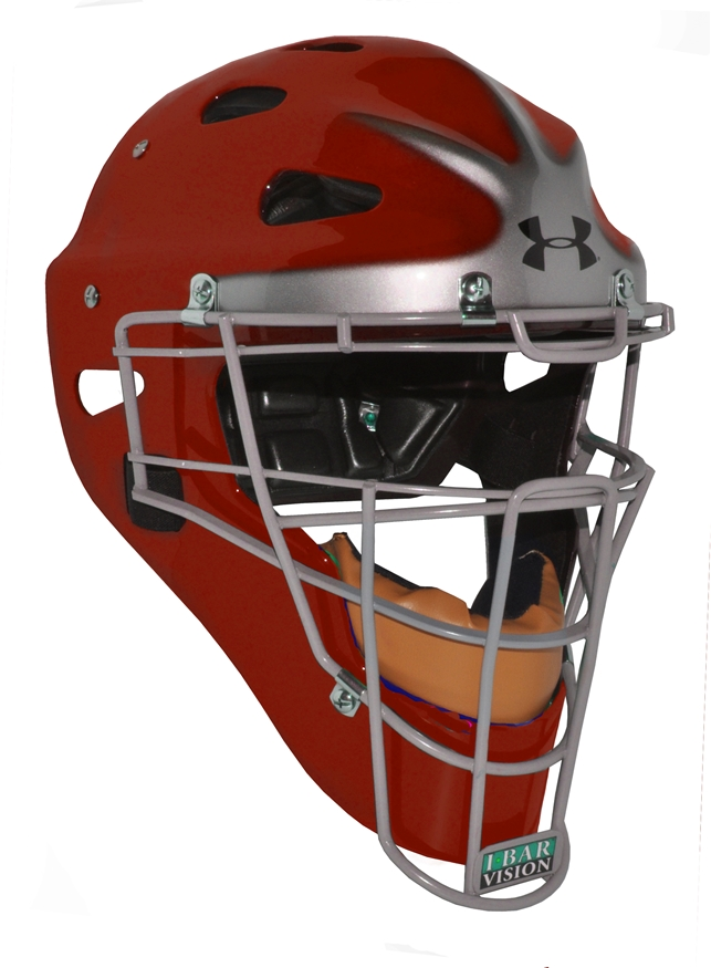 Under Armour Pro Head Gear Scarlet w/silver