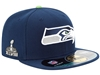 Seattle Seahawks NFL Super Bowl XLVIII On Field Patch 59FIFTY Cap