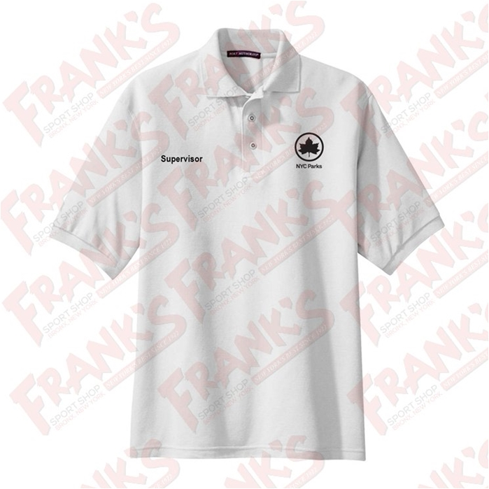 NYC Parks and Recreation Supervisor White Short Sleeve Polo