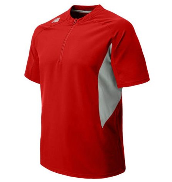 Short Sleeve Ace Baseball Team Red Jacket