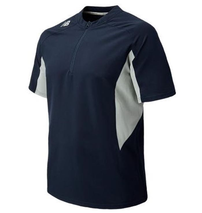 Short Sleeve Ace Baseball Team Navy Jacket