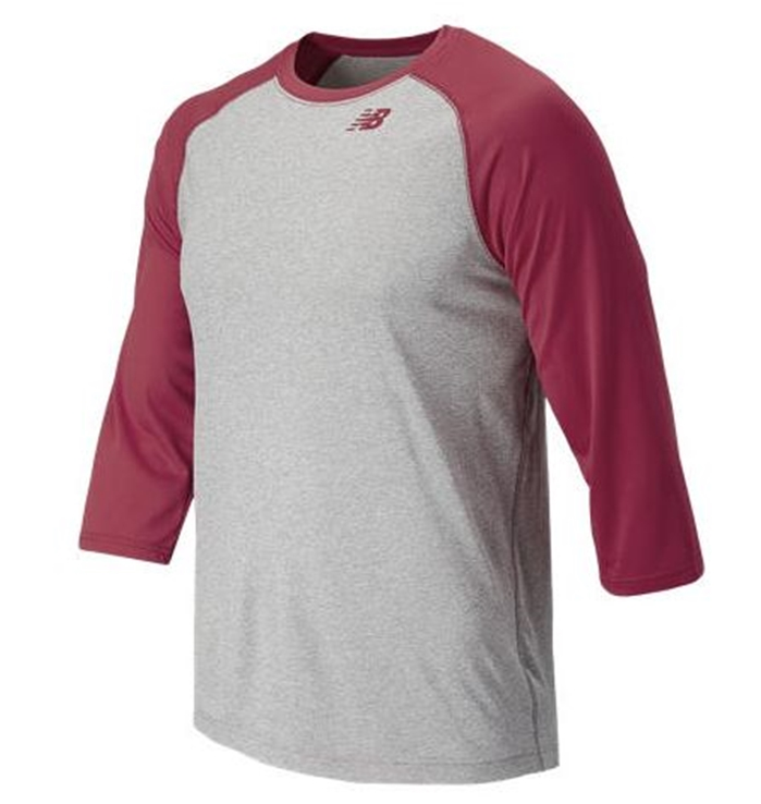 3/4 Baseball Team Cardinal Raglan Top