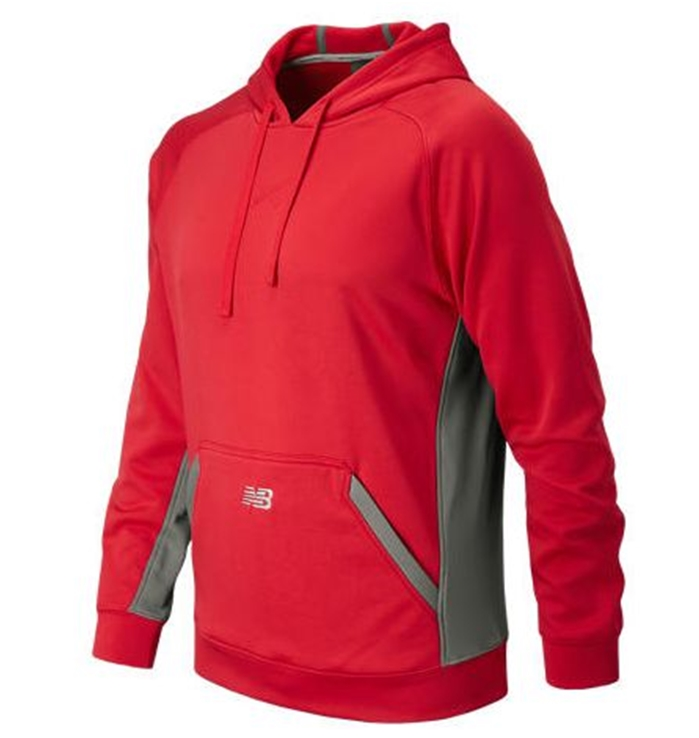 Baseball Team Red Tech Hoodie