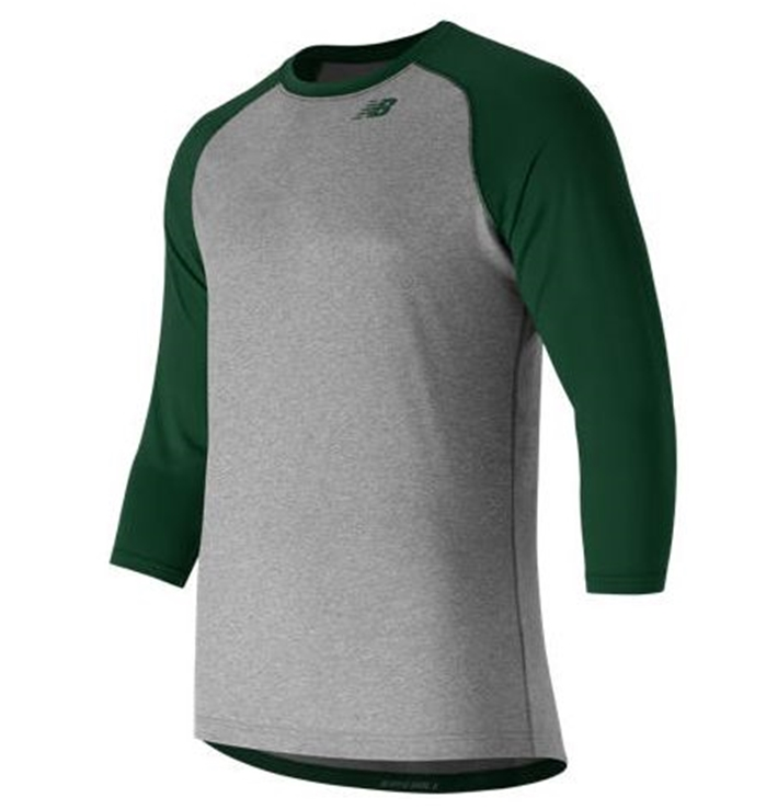 3/4 Baseball Team Dark Green Raglan Top