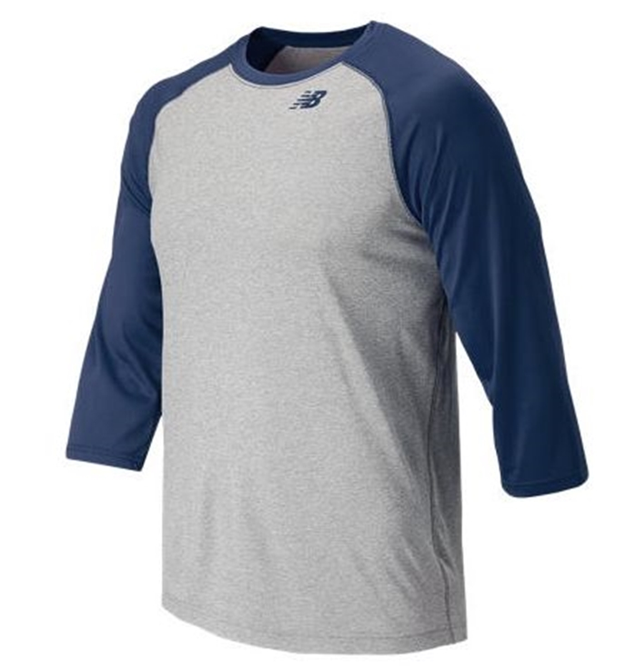 3/4 Baseball Team Navy Raglan Top