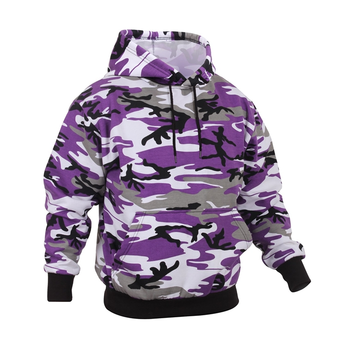 Rothco Ultra Violet Purple Camo Pullover Hooded Sweatshirt