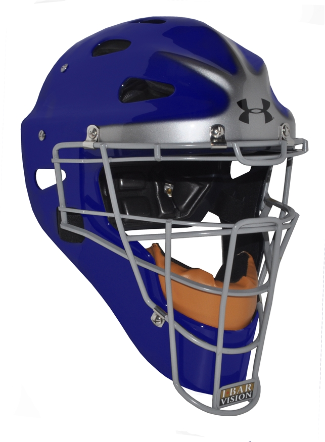 Under Armour Pro Head Gear Royal w/ Silver