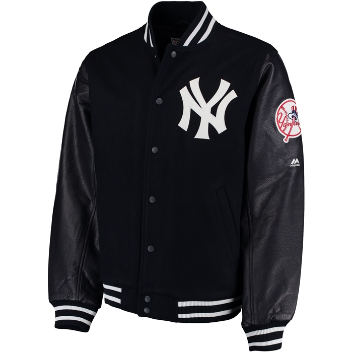 Majestic Authentic NY Yankees Wool Quilted Varsity Jacket