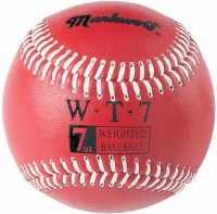 7oz Weighted Leather Baseball