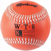 8 oz Weighted Leather Baseball