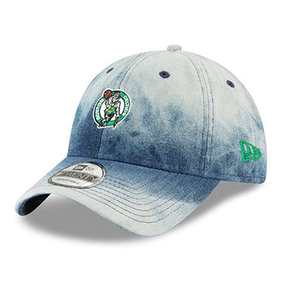 save off 121fa 2668e New Era 9TWENTY Boston Celtics Denim Wash Out Adjustable Cap