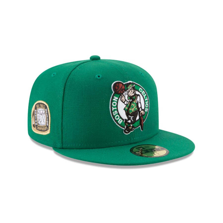 New Era Boston Celtics 59Fifty Championship Title Trim Fitted Cap 7ad72ba8191c
