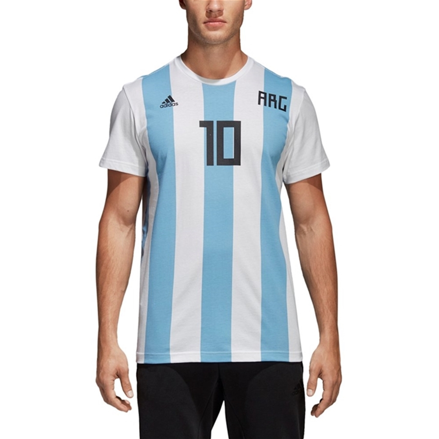 best service a71ab 5e769 Adidas Lionel Messi Argentina National Team Replica Soccer Jersey