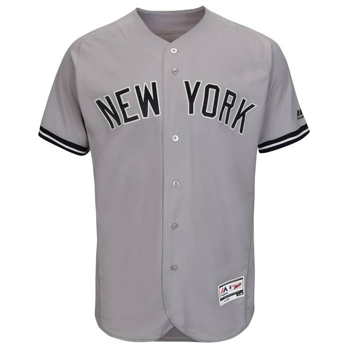 new style 61d49 c47db Majestic NY Yankees Road Flex Base Authentic Collection Team Jersey