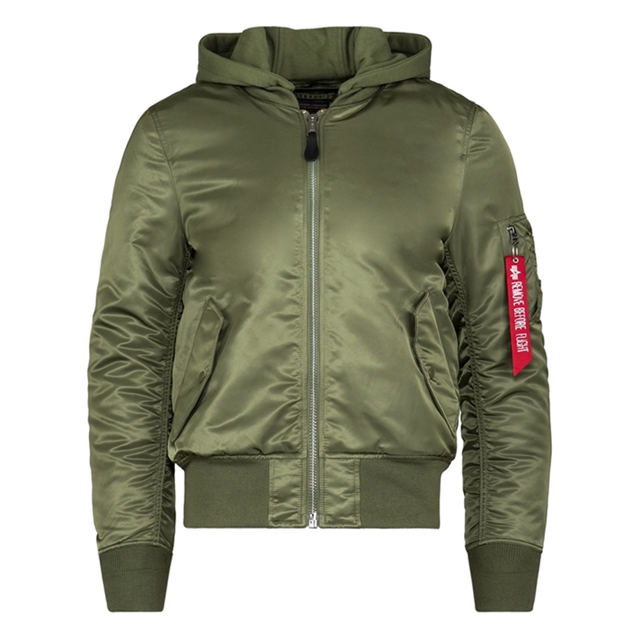 lowest price 33491 73d53 Alpha Industries MA-1 Natus Hooded Bomber Jacket