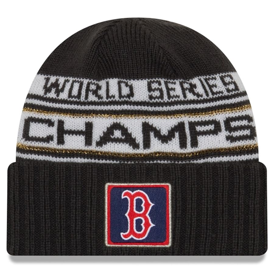 60e2c8e191d4a New Era 2018 WSC Boston Red Sox Locker Room Cuffed Knit Hat. click on  thumbnail to zoom