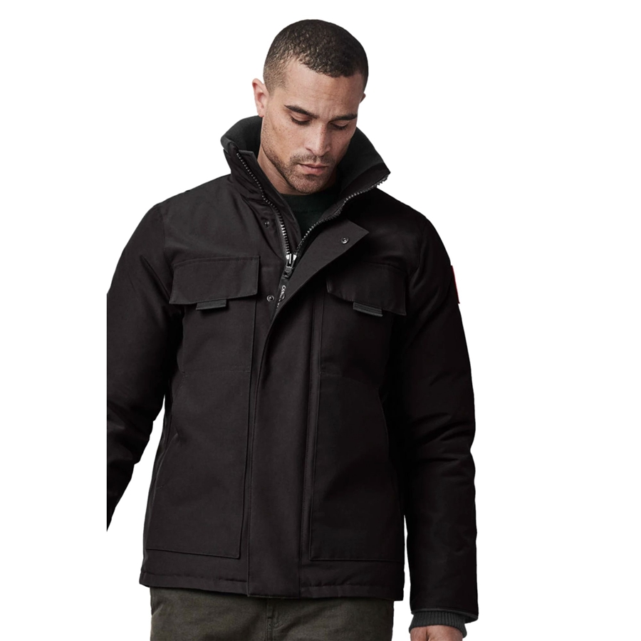 Canada Goose Forester Jacket Black Front View