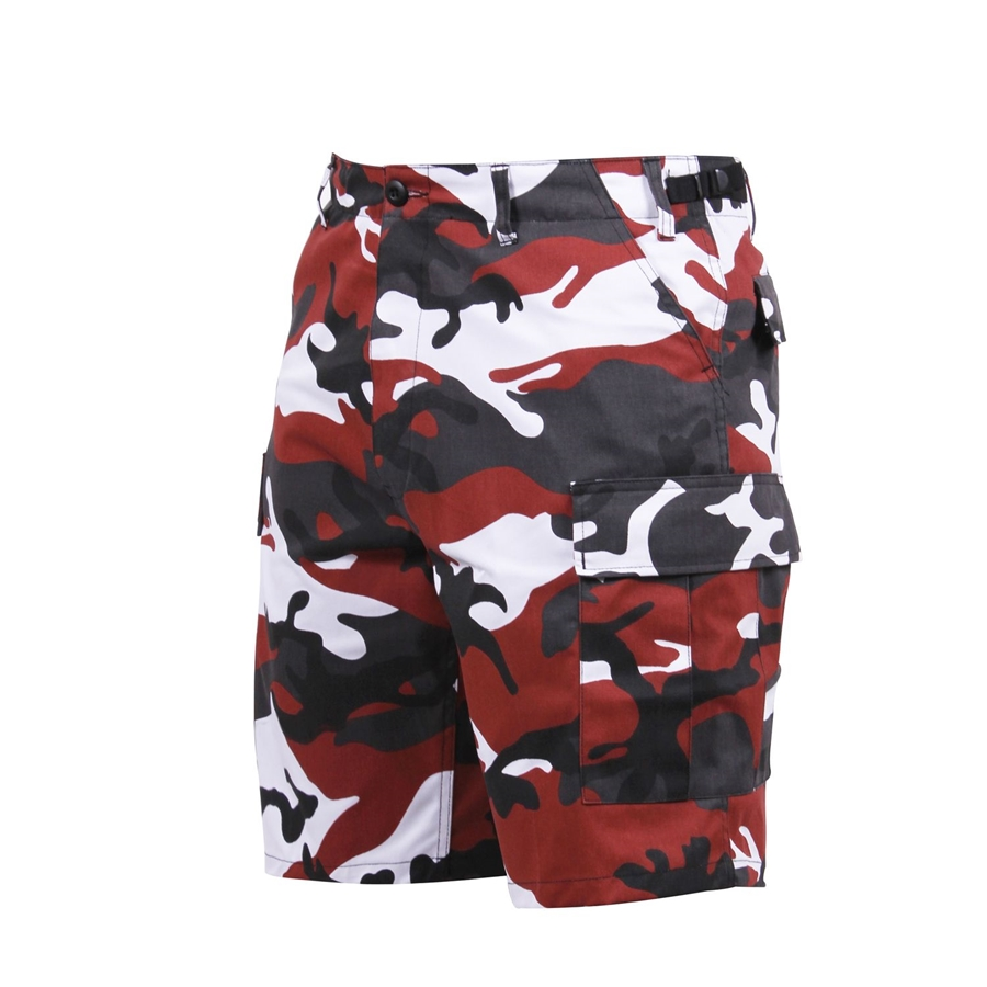 Rothco 6 Pockets Colored Red Camo BDU Shorts Alternate Image