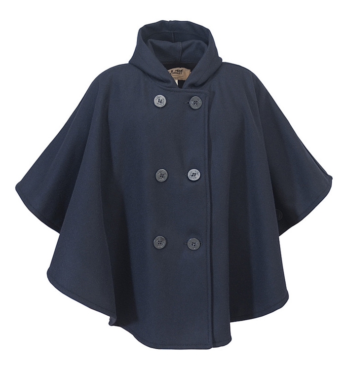 Schott Women's Unlined Double Breasted Cape with Hood