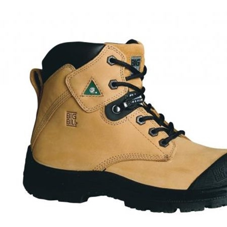 6'' Tan Nubuck Leather TRACTION 360° STEEL TOE Safety Boots
