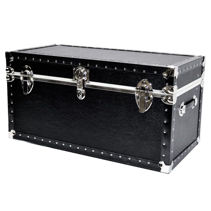 Biltmore Trunk Jumbo Black Vinyl Covered Trunk