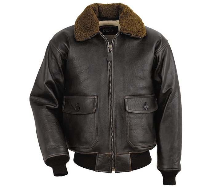 Schott Men's G-1 Leather Flight Jacket G1S