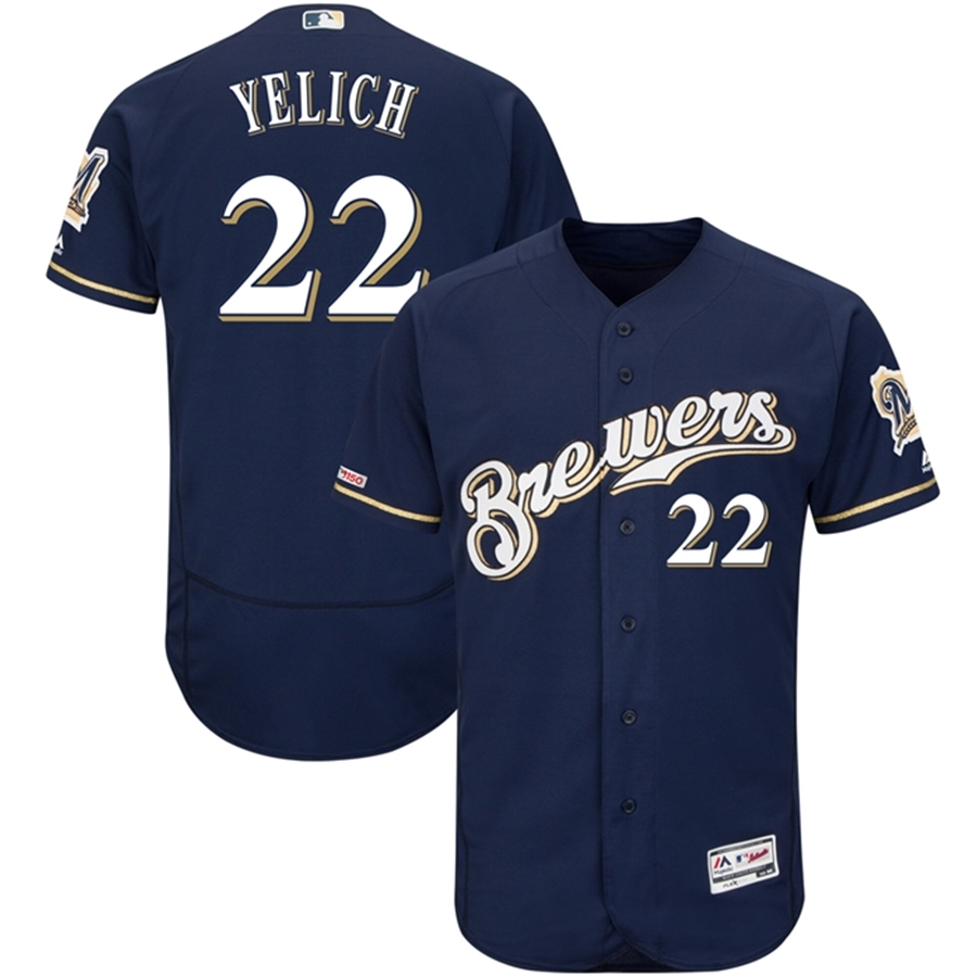 Majestic Milwaukee Brewers Christian Yelich Authentic Jersey