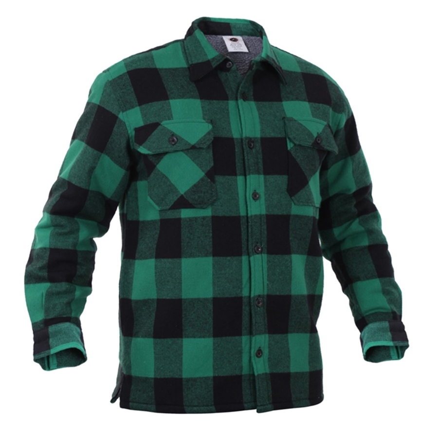 Rothco Extra Heavyweight Buffalo Plaid Sherpa-lined Flannel Shirts (4 Colors)