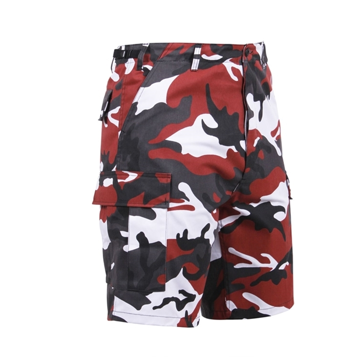 Rothco 6 Pockets Colored Red Camo BDU Shorts