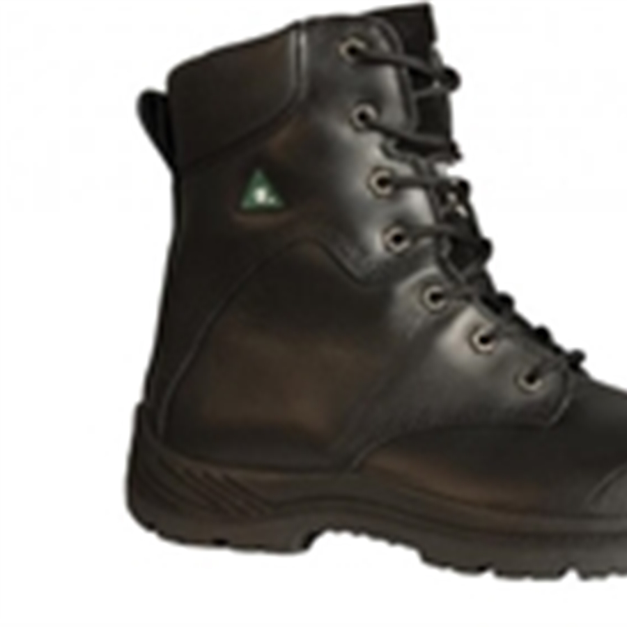 Men's Traction Black Leather Boot
