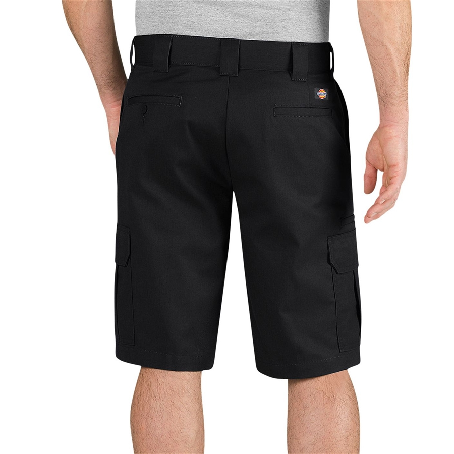 Dickies Flex 11 inch Regular Fit Black Cargo Short