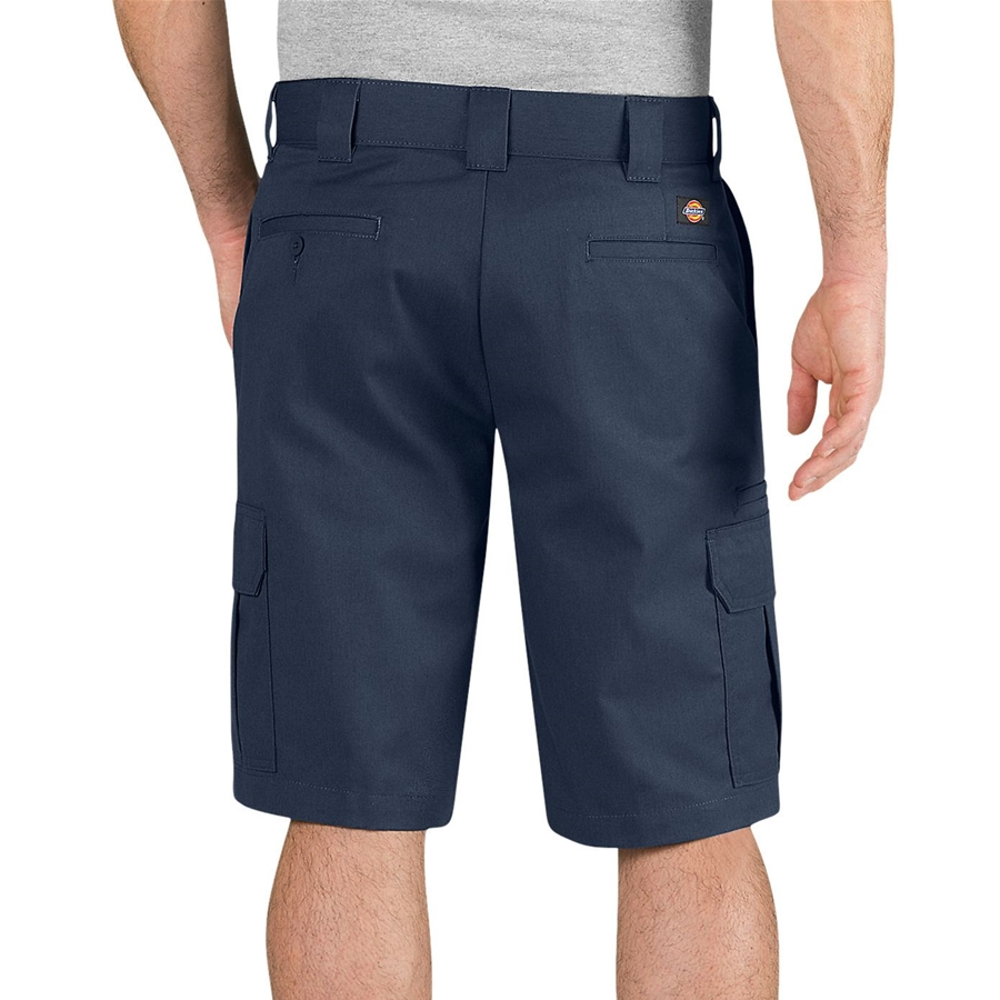 Dickies Flex 11 inch Regular Fit Dark Navy Cargo back of Short